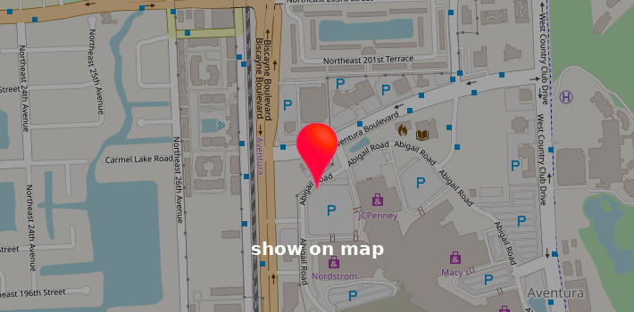 Map of The Shoe Box in Town Center at Boca Raton location