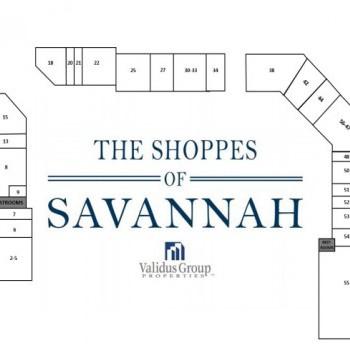 The Shoppes of Savannah stores plan